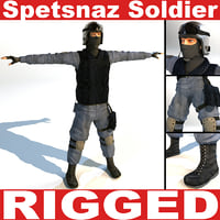 Spetsnaz Soldier (RIGGED)