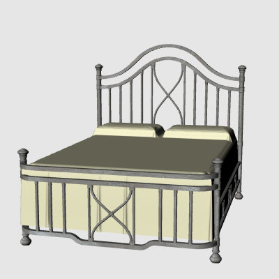 metal bed 3d 3dm
