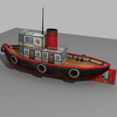 3d model of tugboat boat