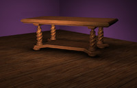 3d reverse rope twist dining table model