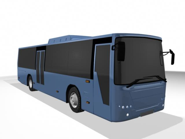 high-detail bus 3d model