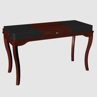 Leather top box writing desk.3dm