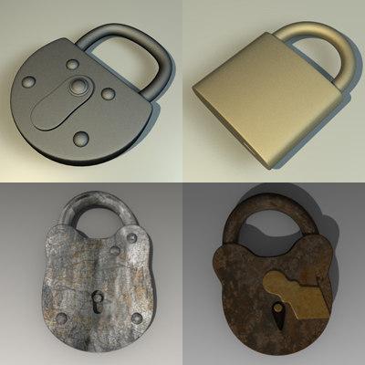 locks 3d model