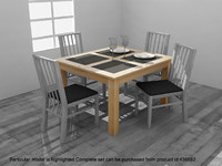 Dining Table from Atlantis Dining Set - High Quality Furniture 3d model