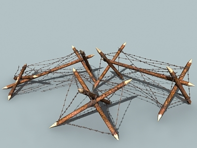 3d model of barbed wire