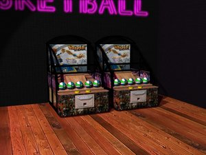 3d model basketball arcade