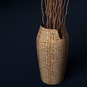 3d model objects decorate vase