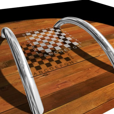 3dsmax glass table chess