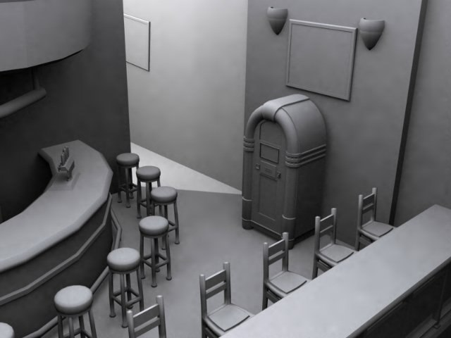 nightclub pub dancehall 3d model