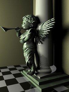 3d column cherub