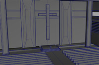 3d futuristic church model
