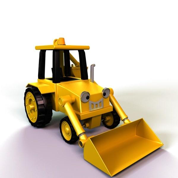 3d model toy digger