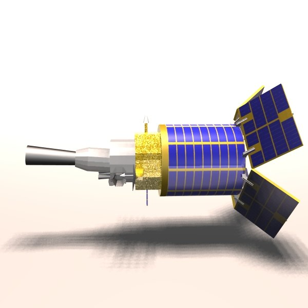 3d model defense satellite