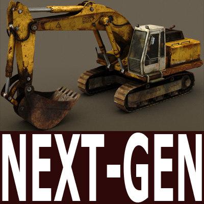 3d next-gen excavator model