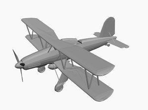 fieseler bomber 167 3d model