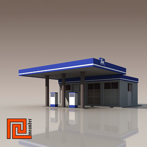 gas station 3d 3ds