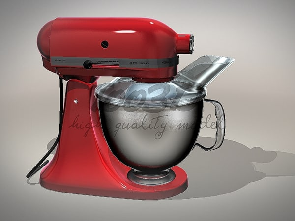 kitchen mixer 3d model