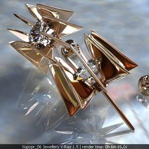 earrings ring diamond 3d max