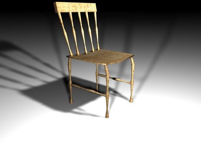 old chair 3d c4d