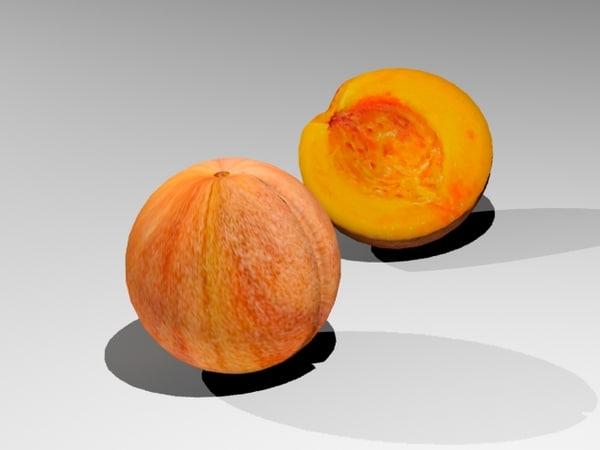 3d model peach fruit