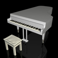 3d model piano keyboard