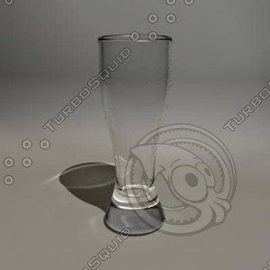 3d 12 oz pilsner glass