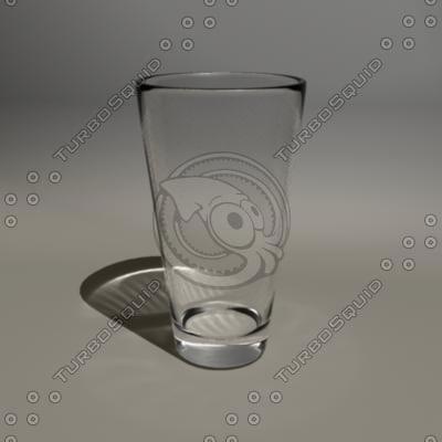 pub glass 3d model