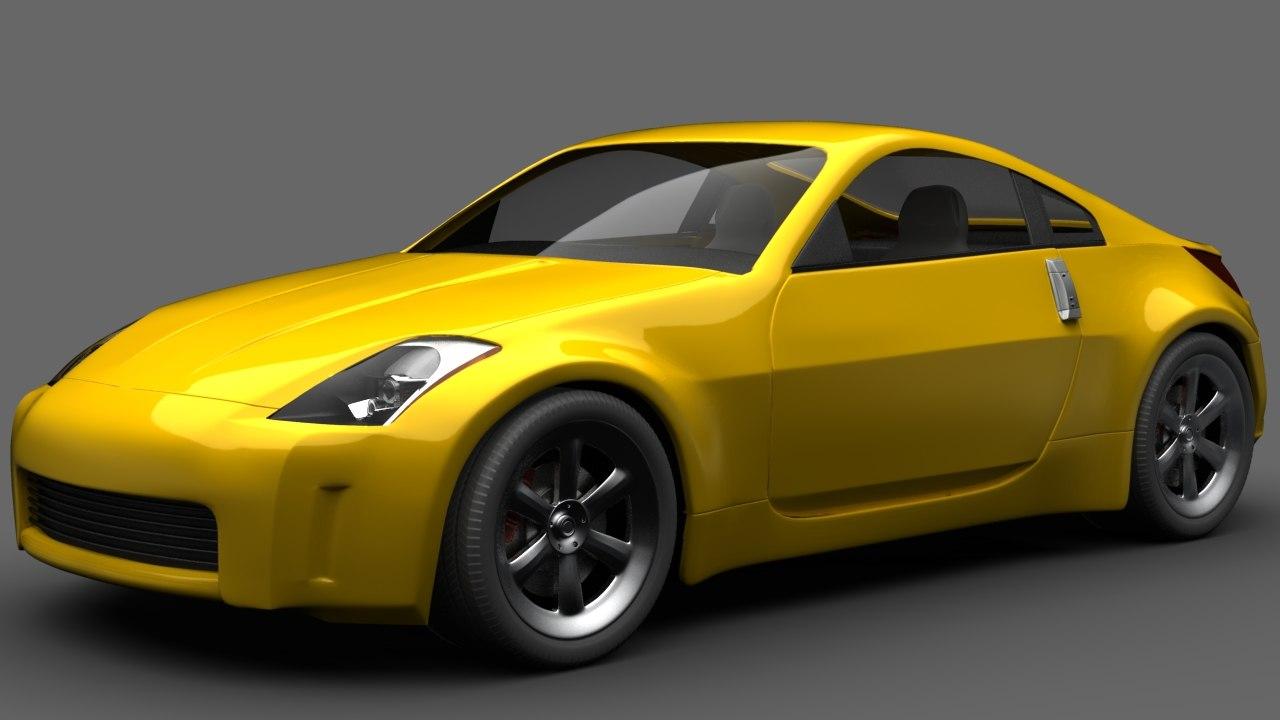 3d model 350z format