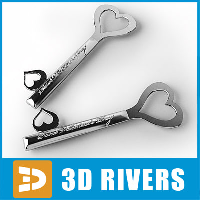 3d model keys valentine saint