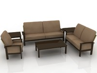3d model sofa set furniture