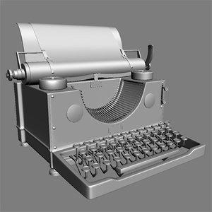 classic typewriter 3d model