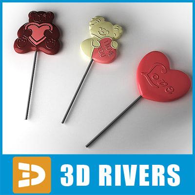 3dsmax valentine day lollipops
