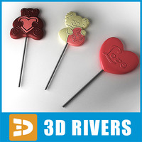 Valentine Day Lollipops 01 by 3DRivers