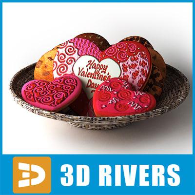3ds max valentine cookies