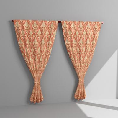3d model draperies