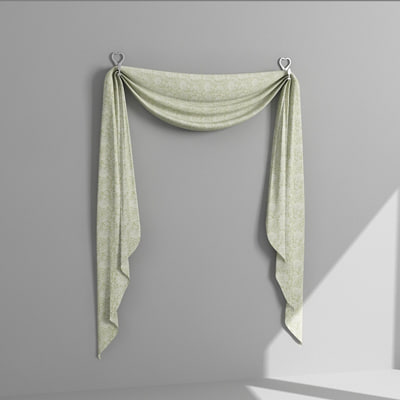 3d model draperies curtains