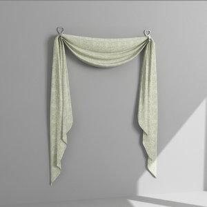 3d model draperies curtains
