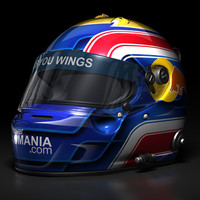 mark webber 2008 helmet 3d model