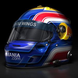 mark webber 2008 helmet 3d model
