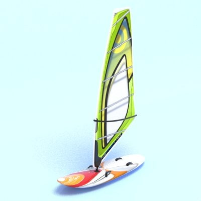 3ds max windsurf surf