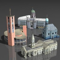 building cathedral 3d max