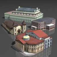 3ds max building theater