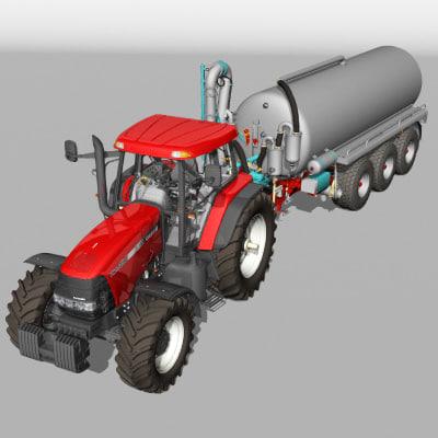tractor tanker null 3d model
