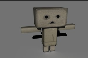 3d model rigged danbo character