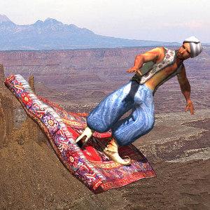 3d model oriental mage magic carpet