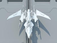 futuristic space fighter xcalon 3d obj