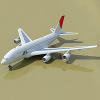 Japan Airlines JAL 3D Airbus A380