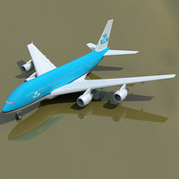 KLM 3D Model Airbus Netherlands A380