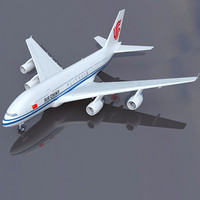 3d 3ds airbus a380 air china