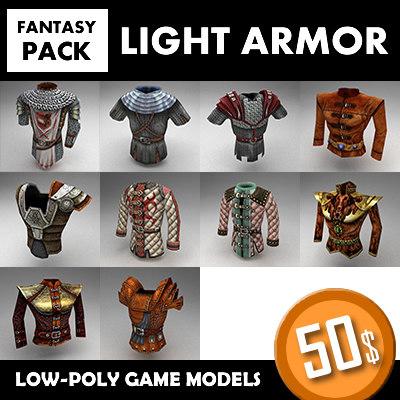 fantasy armor set 1 3d model